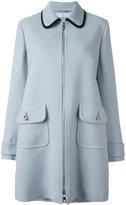 Prada flap pockets zipped coat