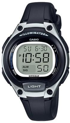 Casio Women's Easy Reader Digital Watch, Black/Silver LW203-1AV