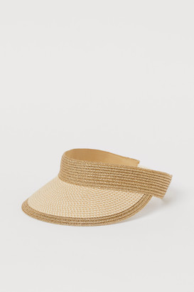 H&M Braided straw sun visor