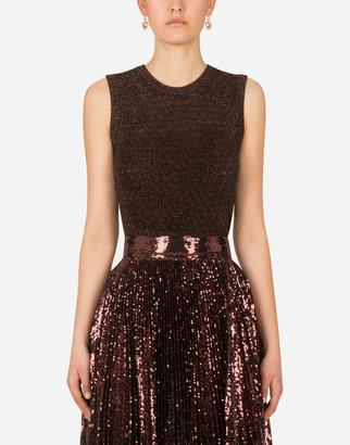 Dolce & Gabbana Sweater In Lurex Lace