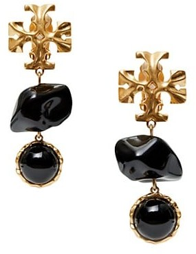 Tory Burch Roxanne Double Drop Clip-On Earrings