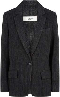 Etoile Isabel Marant Wool Charly Boyish Blazer