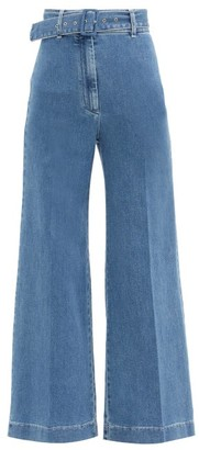 Emilia Wickstead Jada High-rise Wide-leg Jeans - Denim
