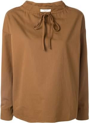 Atlantique Ascoli oversized tie-neck blouse