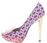 Roger Vivier Printed Satin Buckle Pumps