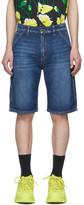 MSGM Blue Denim 70s Wash Shorts