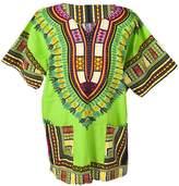 Lofbaz Traditional African Print Unisex Dashiki Size Black and Purple