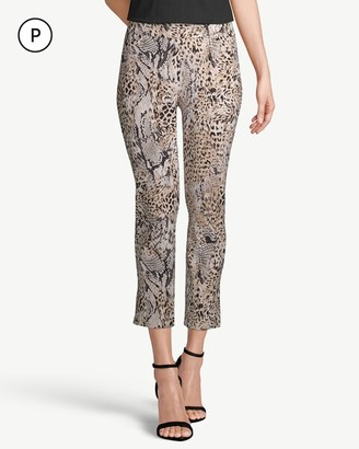 So Slimming Petite Brigitte Animal-Print Side-Vent Crops