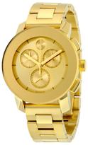 Movado Bold Chronograph Gold Metallic Dial Unisex Watch, 38mm