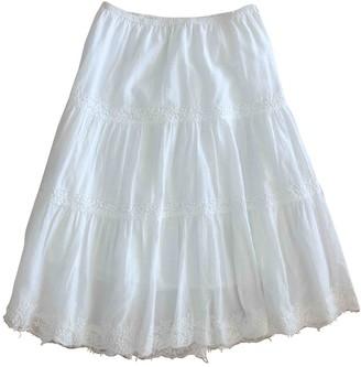 Calypso St. Barth White Cotton Skirt for Women