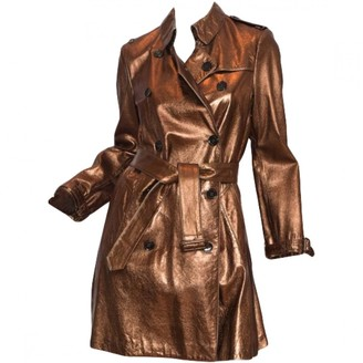 Burberry Metallic Leather Trench coats