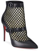 Christian Louboutin Boteboot Leather & Mesh Booties