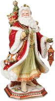 Fitz & Floyd Damask Holiday Santa Centerpiece Figurine