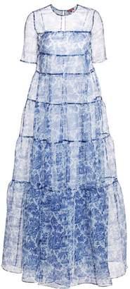 STAUD Hyacinth Puff Sleeve Printed Gown