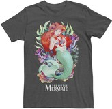Disney Disney's Little Mermaid Men's Watercolor Anime Style Tee