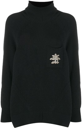Ermanno Scervino Long-Sleeve Knitted Roll Neck Jumper