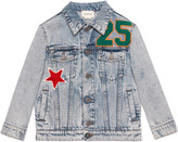 Gucci Children's embroidered denim jacket