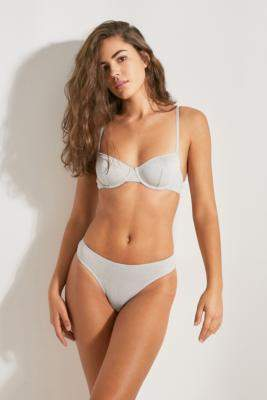 Out From Under Julia '80s Glitter Bra - silver 34B at Urban Outfitters