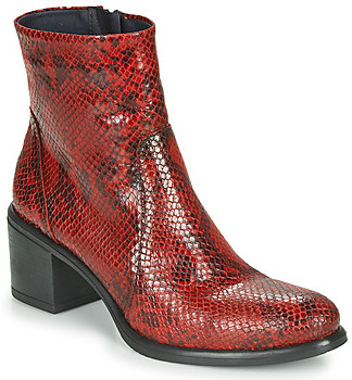 Dorking LEXI women's Low Ankle Boots in Red