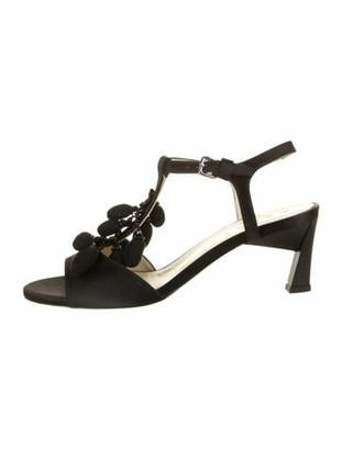 Marni Satin Buckle Sandals Black