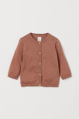 H&M Silk-blend Cardigan - Orange