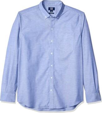 Cutter & Buck Men's Epic Easy Care Stretch Oxford Stripe Button Down Shirt