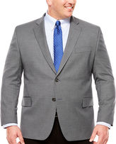 STAFFORD Stafford Yearround Gray Navy Houndstooth Sport Coat-Big and Tall