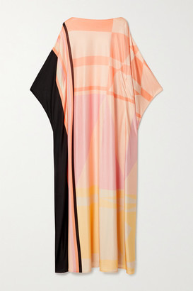 LOUISA PARRIS Net Sustain Stevie Printed Silk-jersey Maxi Dress - Blush