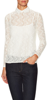 The Kooples Lace Embellished Collar Blouse
