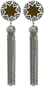 House Of Harlow Sunburst Tassel Earrings