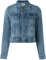 Current/Elliott the snap denim jacket - women - Cotton/Polyester/Spandex/Elastane - 1