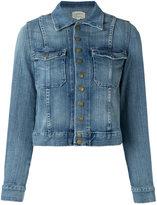 Current/Elliott the snap denim jacket - women - Cotton/Polyester/Spandex/Elastane - 2