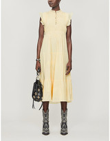 BA&SH Noah tiered cotton midi dress