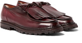 Officine Creative - Voltaire Burnished-leather Kiltie Derby Shoes