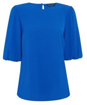 Dorothy Perkins Womens Cobalt Puff Sleeve T