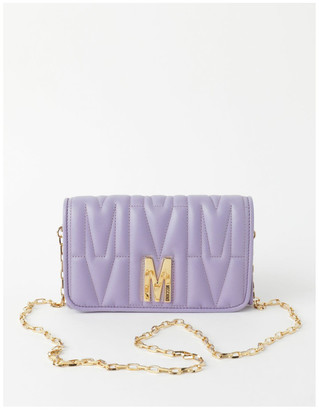 Moschino Emboss Chain Flap Over Wallet