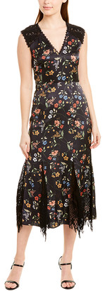 ML Monique Lhuillier Midi Dress