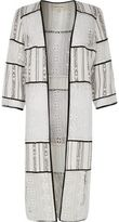 River Island Womens White lace kimono