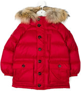 Burberry raccoon fur hooded coat