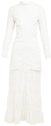 Sir - Celie High-neck Cotton-voile Maxi Dress - Womens - Ivory