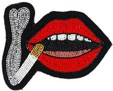 Olympia Le-Tan lip brooche