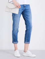 Current/Elliott The Fling relaxed-fit cropped mid-rise jeans