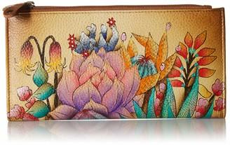 Anuschka Hand Painted Leather | Women's Two Fold Wallet | Desert Sunset