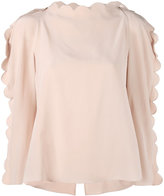 Fendi scalloped blouse - women - Silk/Polyester/Viscose - 42