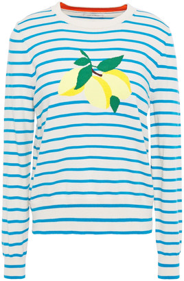 Chinti and Parker Lemon Stripe Intarsia Cotton Sweater