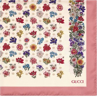 Gucci GG floral scarf