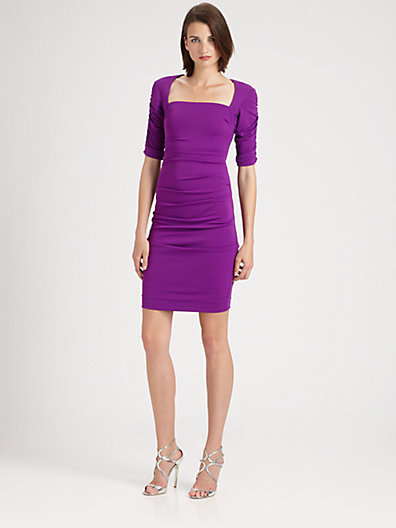 Nicole Miller Stretch Matte Jersey Dress
