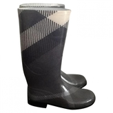 Burberry Anthracite Plastic Boots