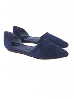 D'Orsay Suede Flat | Navy