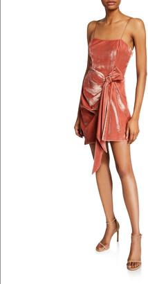 Cinq à Sept Kiki Draped Velvet Mini Dress